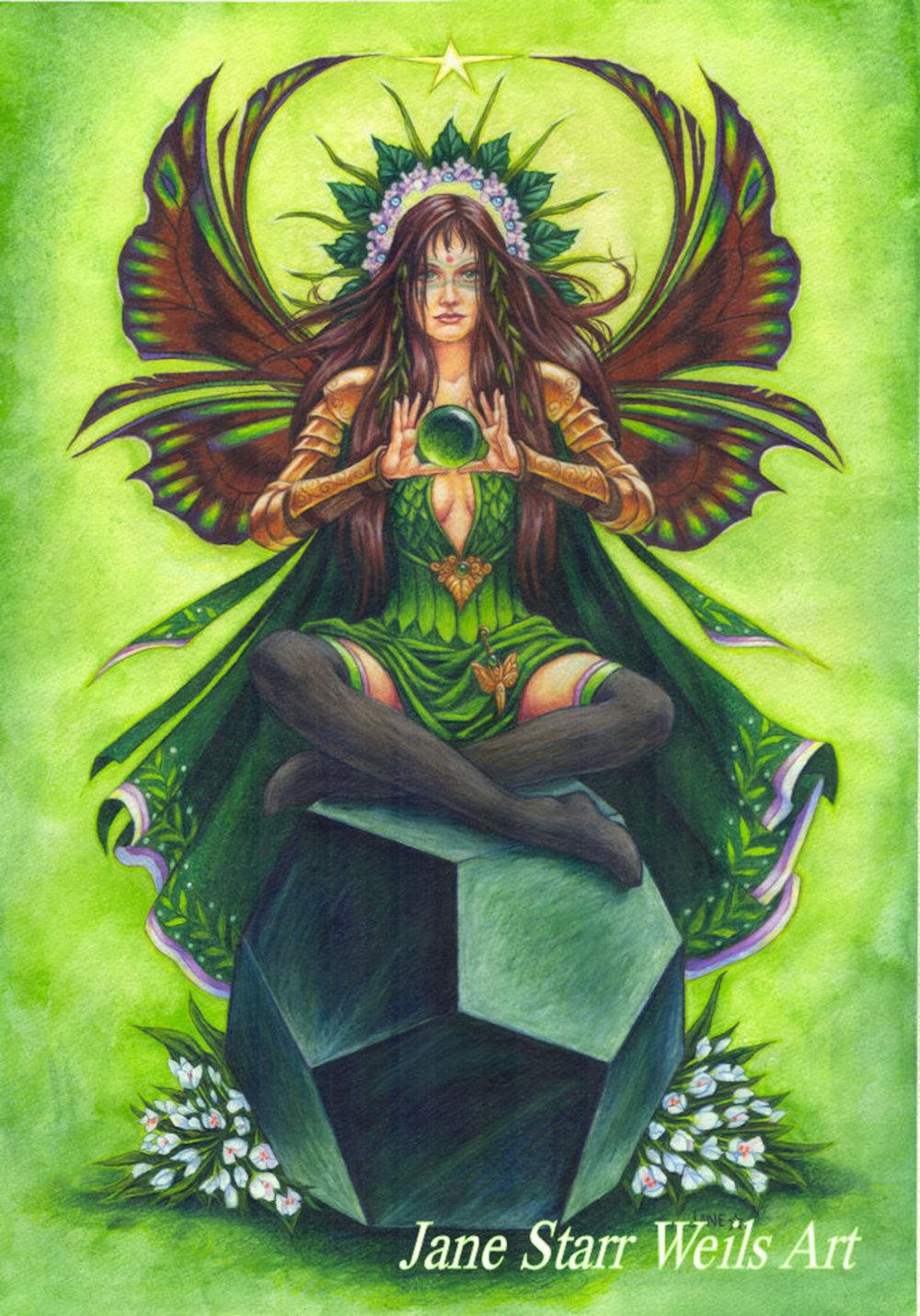 Emerald Faerie Stone Keeper