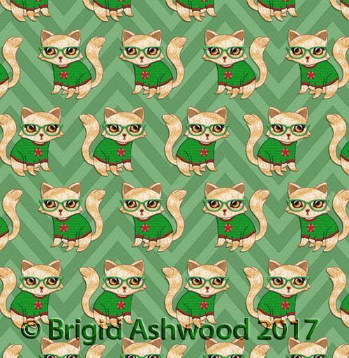Geek Cat Star Pattern