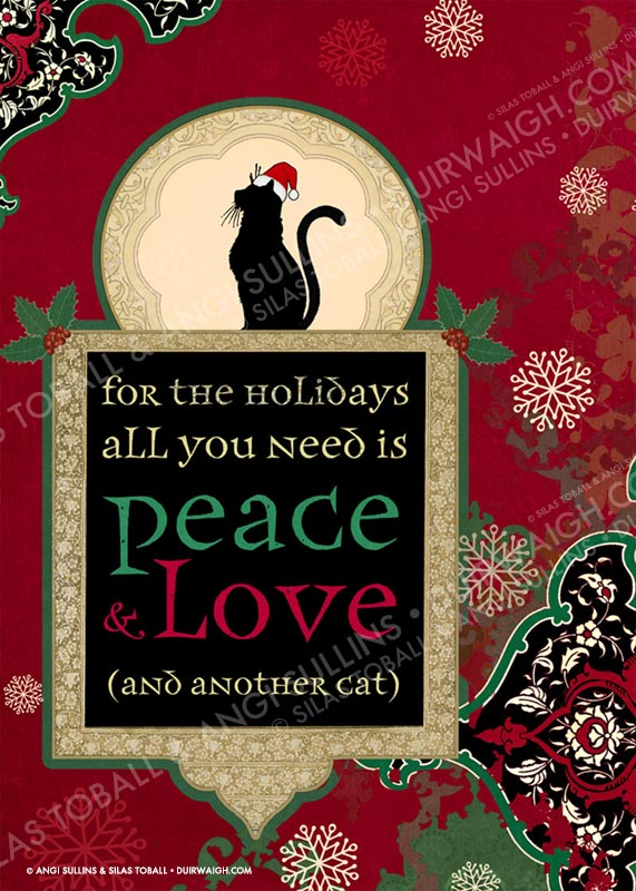 Peace love cat