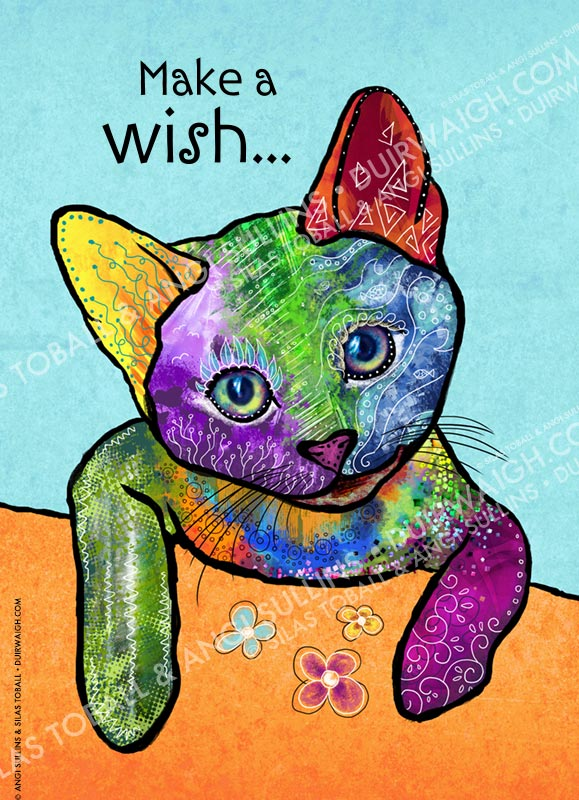 Cat make a wish