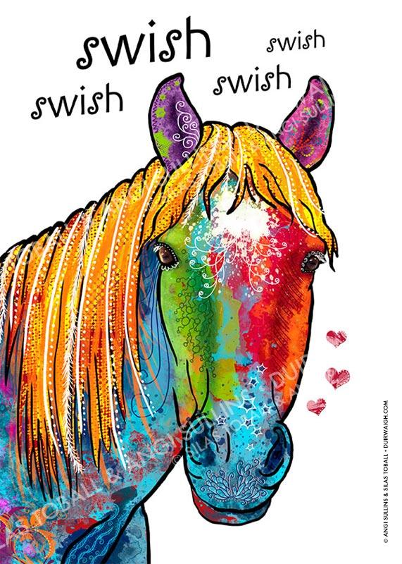 Horse swish swish