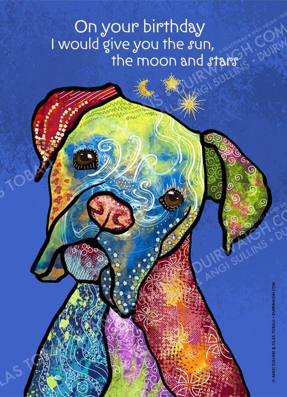 Sun Moon Stars dog