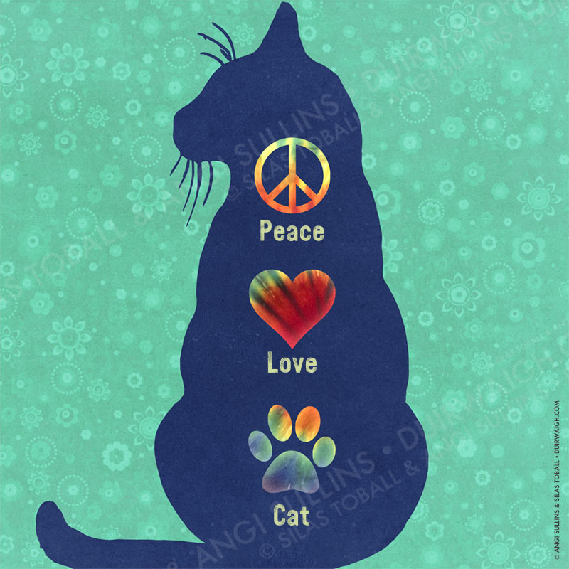 Peace Love Cat 2
