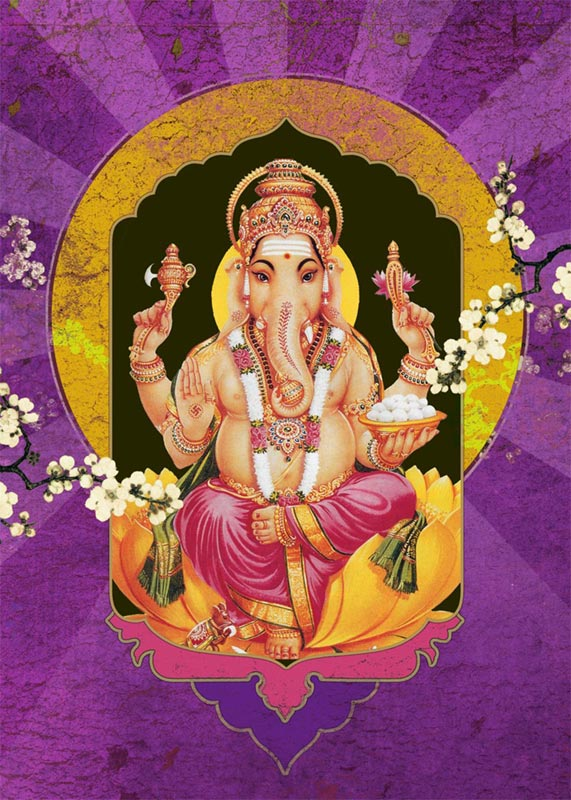 Ganesha Purple