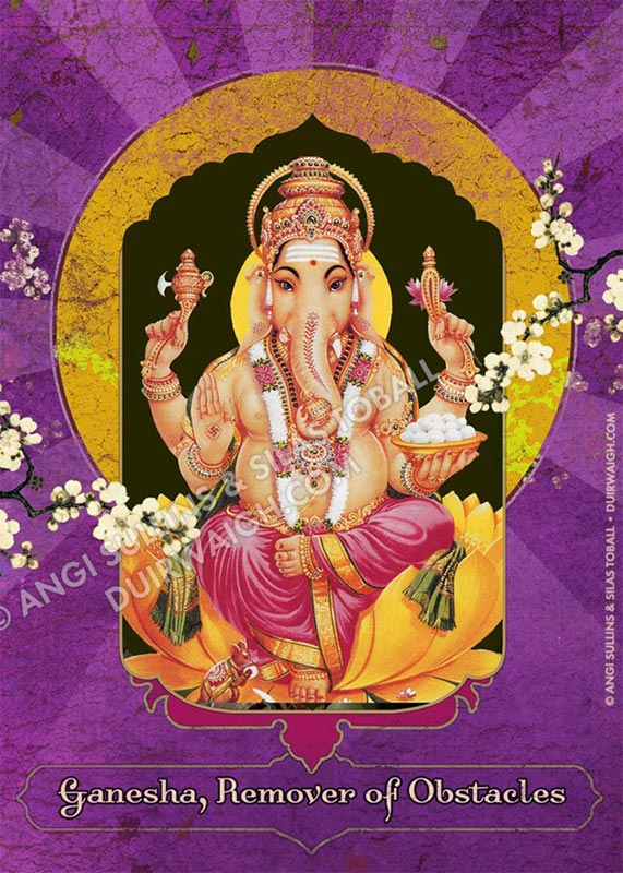 Ganesha Purple Quote