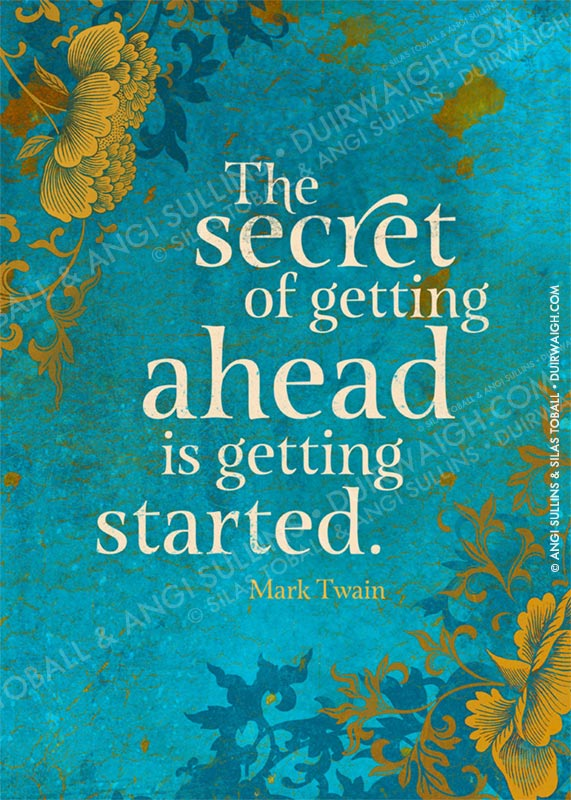 The secret of getting ahead