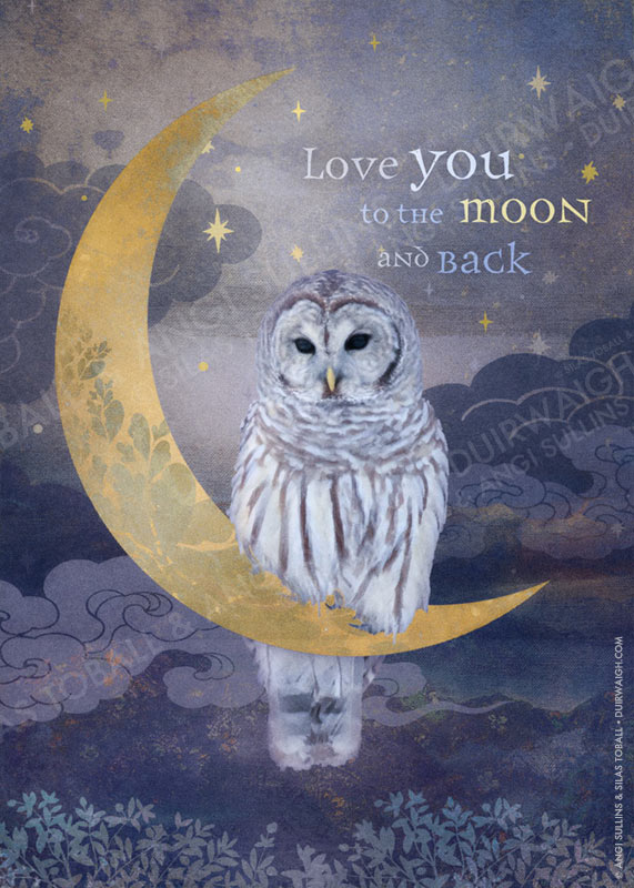 Love you to the moon (Owl)