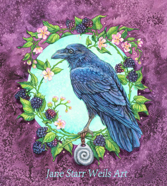 Raven and Blackberry Bramble