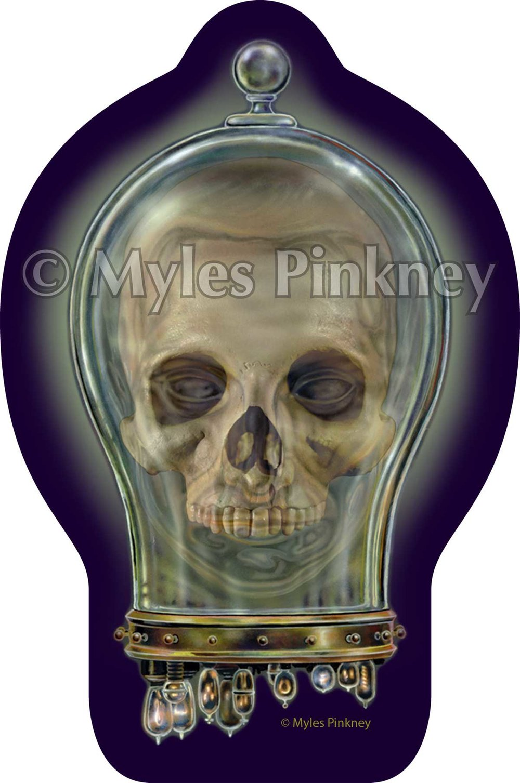 Skull Jar Sticker