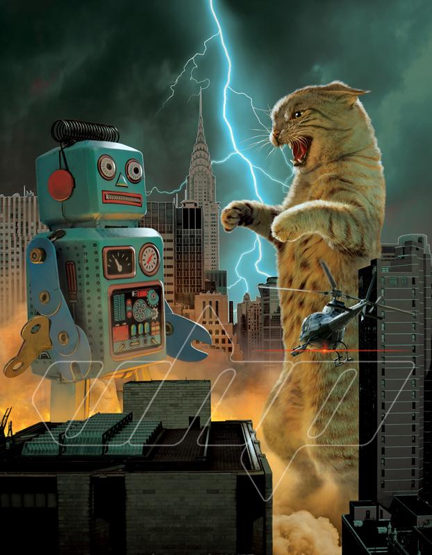 Catzilla vs robot