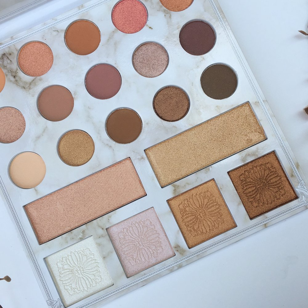Inside of the Deluxe Palette