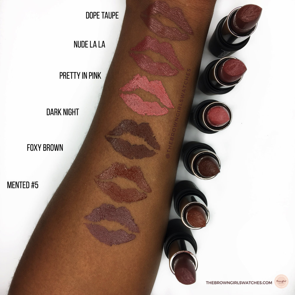 Swatches of the full Mented Cosmetics Lip Collection