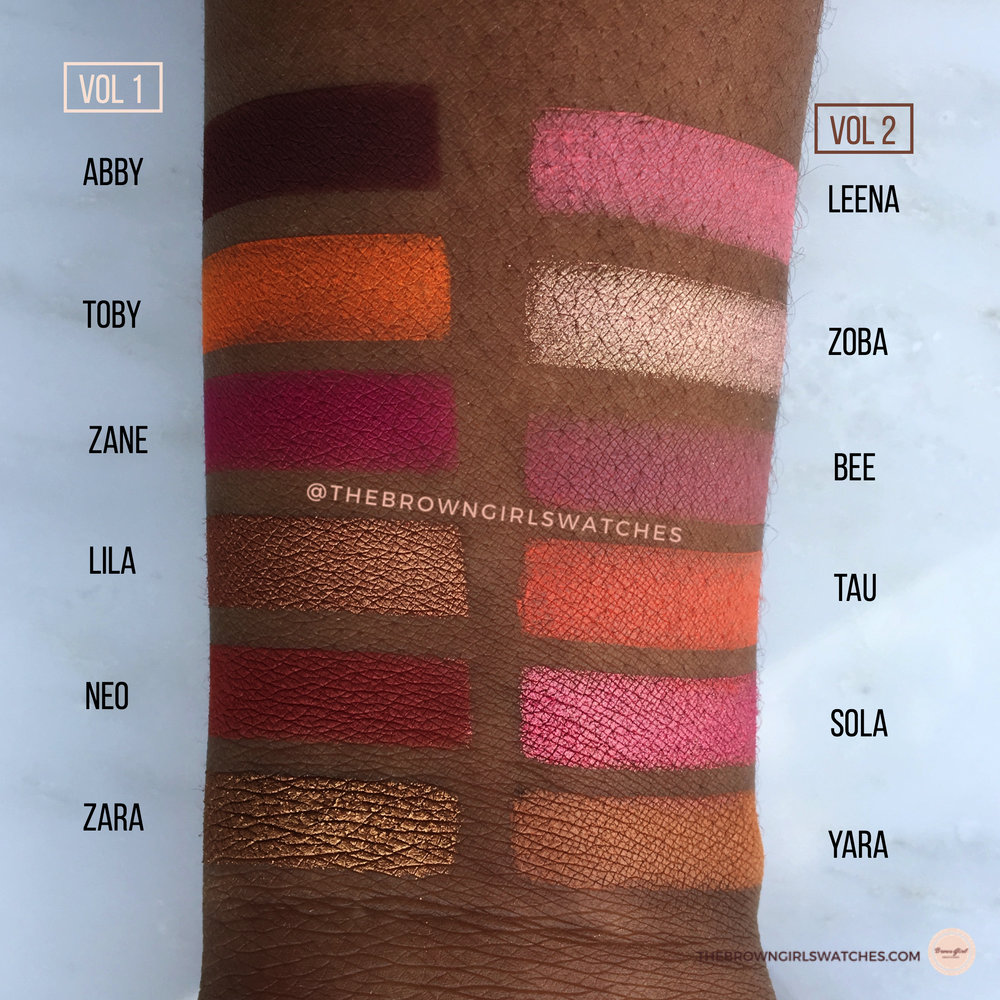 Juvia's Place  Saharan Blush Palette Vol 1  vs  Saharan Blush Palette Vol 2