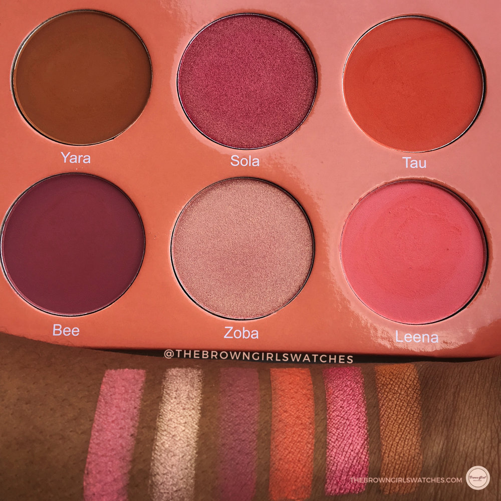 SAHARAN BLUSH PALETTE VOL 2 SWATCHES