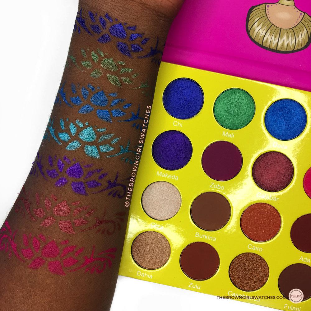 Masquerade Palette Swatches (NC50 Skin)
