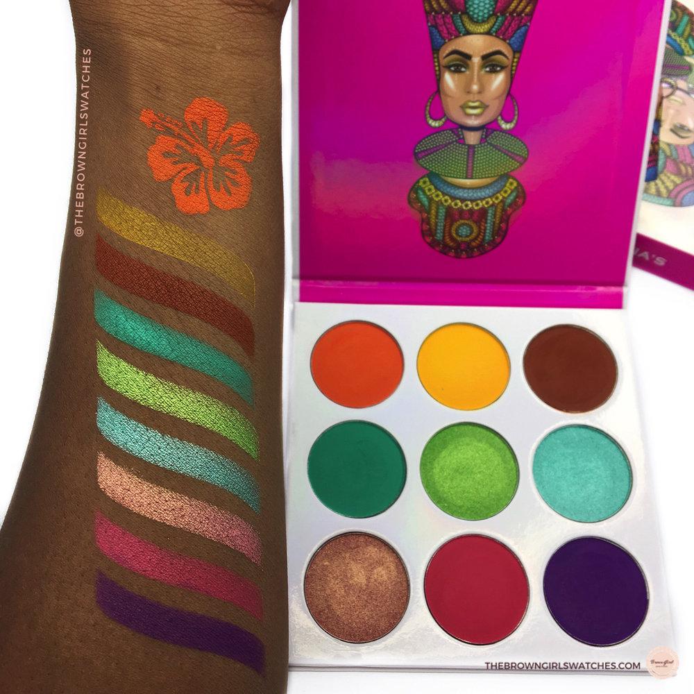 Zulu Palette Swatches (NC50 skin)