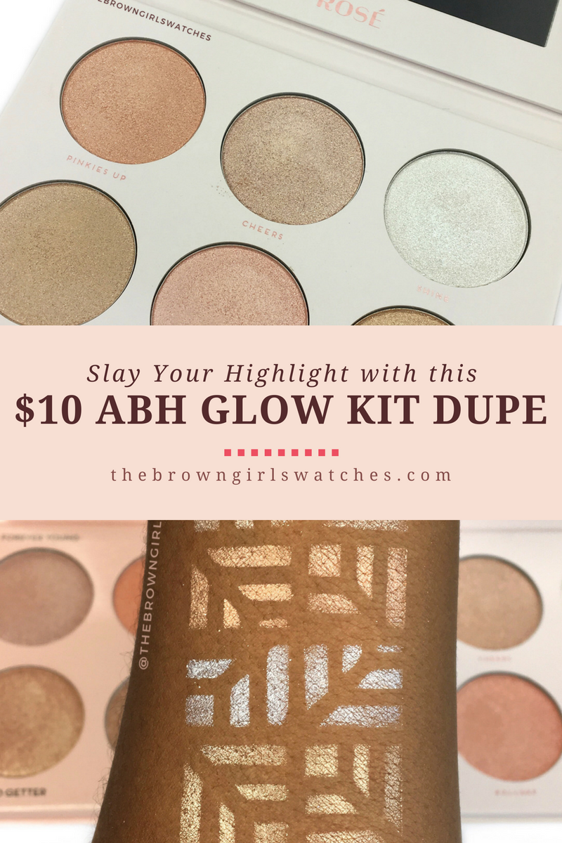 $10 Dupe for Anastasia Beverly Hills Nicole Guerriero Glow Kit: The Rosé Palette by Bad Habit Beauty (Swatches and Review)