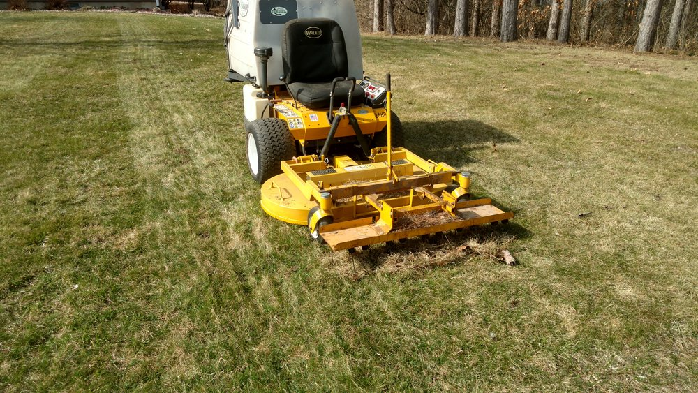 Current Project:  Spring Cleanup and Dethatching have started. Schedule today for fair pricing and quick service.