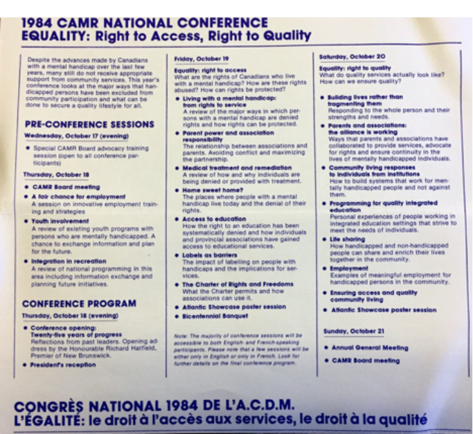 Agenda from conference