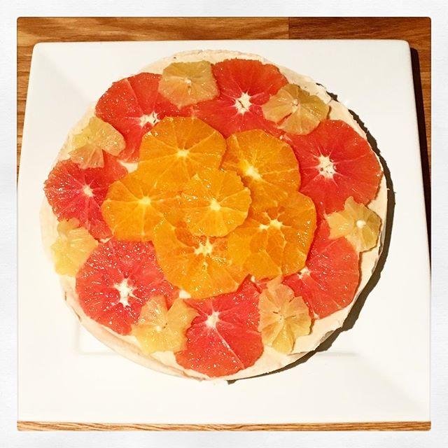 Loved recreating this beautiful & delicious #raw #vegan #glutenfree Citrus Cheesecake from @bakeritablog 🍋 . . . #cheesecake #paleo #healthybaking #simpleandelegant #orange #meyerlemon #coconut #privatechef #personalchef #raleigh #northcarolina
