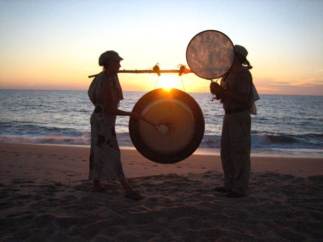 Lynn&Daniel_sunset w drums.jpg