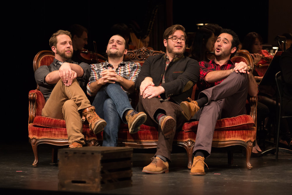 Curtis Opera Theatre: Schaunard in La bohème   Director:Jordan Fein  Conductor: Kensho Watanabe  Photo: Karli Cadel