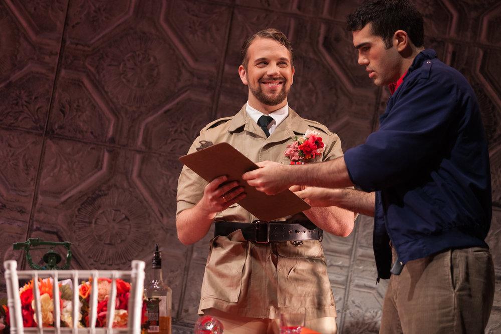 Curtis Opera Theatre: Belcore in L'elisir d'amore  Director:Jordan Fein  Conductor:Vinay Parameswaran  Photo: Karli Cadel