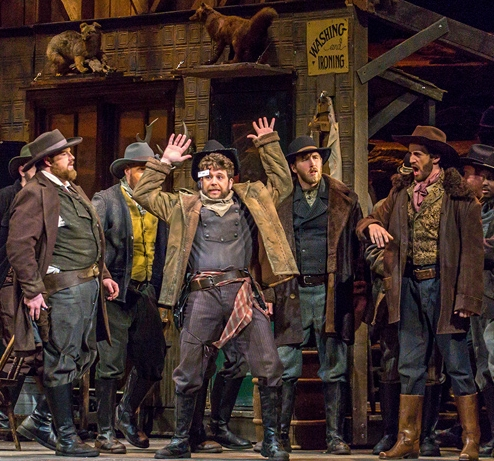 Michigan Opera Theatre: Sid in La Fanciulla del West   Director: Mario Corradi  Conductor: Stephen Lord  Photo: John Grigaitis