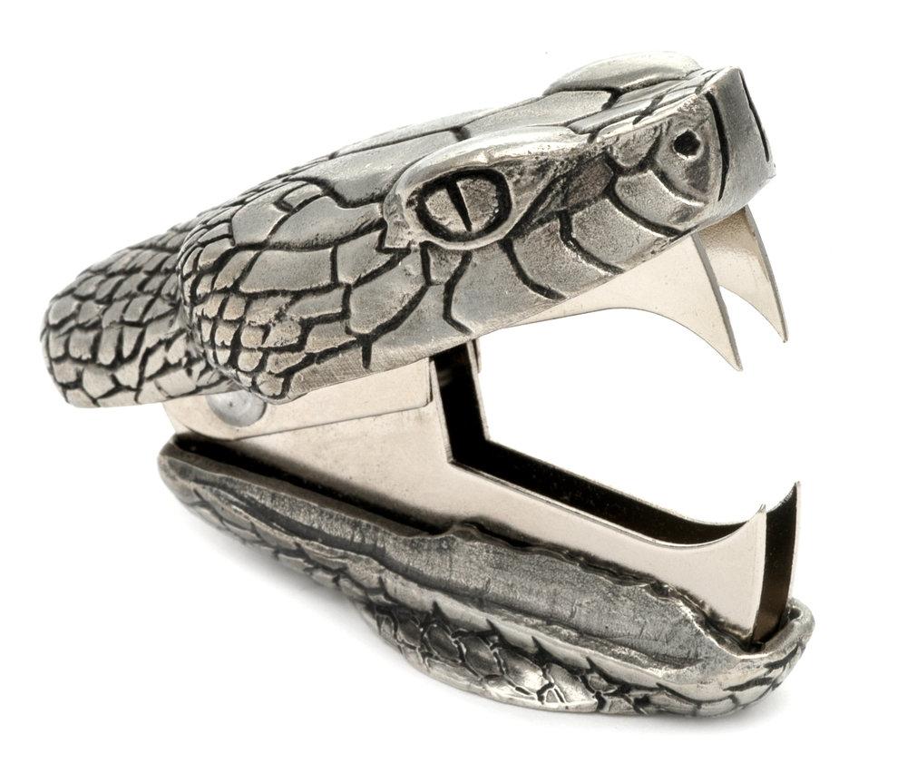 SR01 Snake Bite -  Staple Remover. Pewter Made in USA