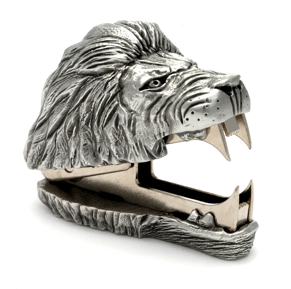 SR02 Lions Roar - Staple Remover. Pewter Made in USA
