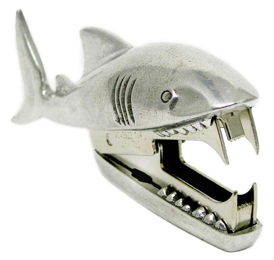 SR04 Shark Bite - Staple Remover. Pewter Made in USA