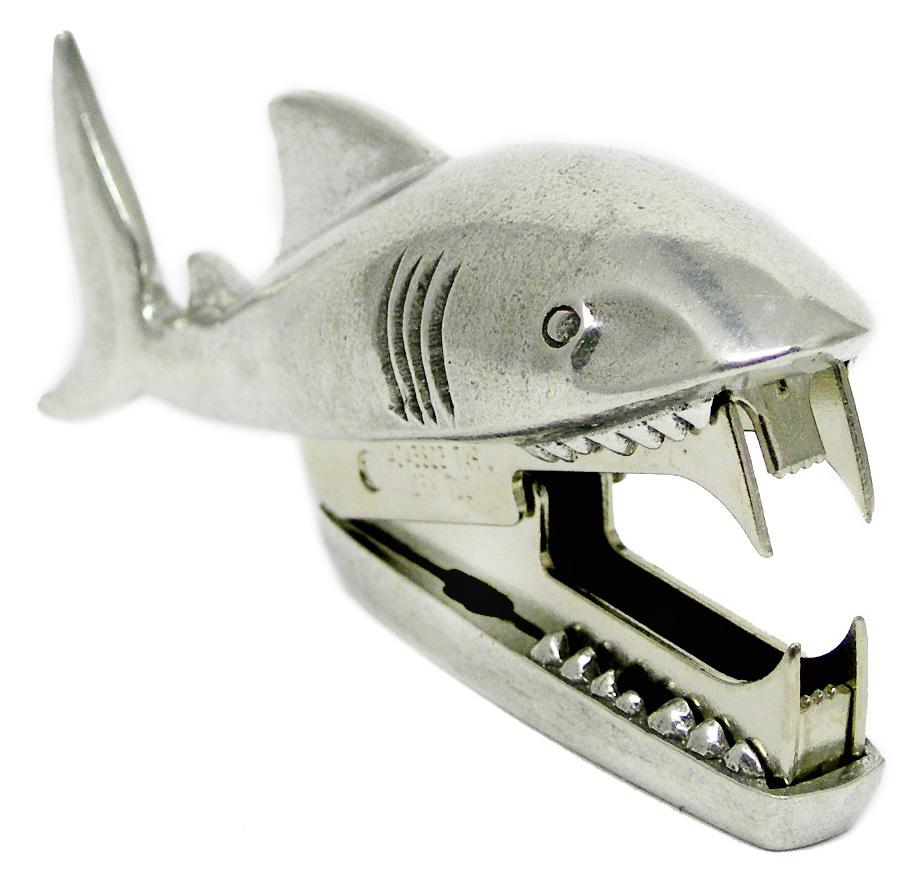 SR04 Shark Bite   -Staple Remover. Pewter Made in USA