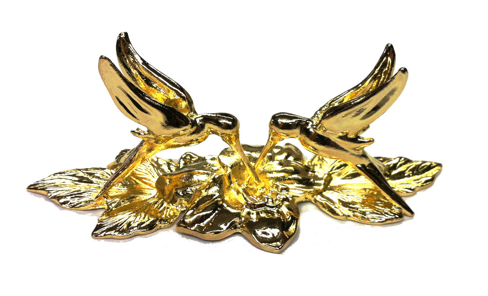 PH60GP - Hummingbirds Gold Plated Made in USA