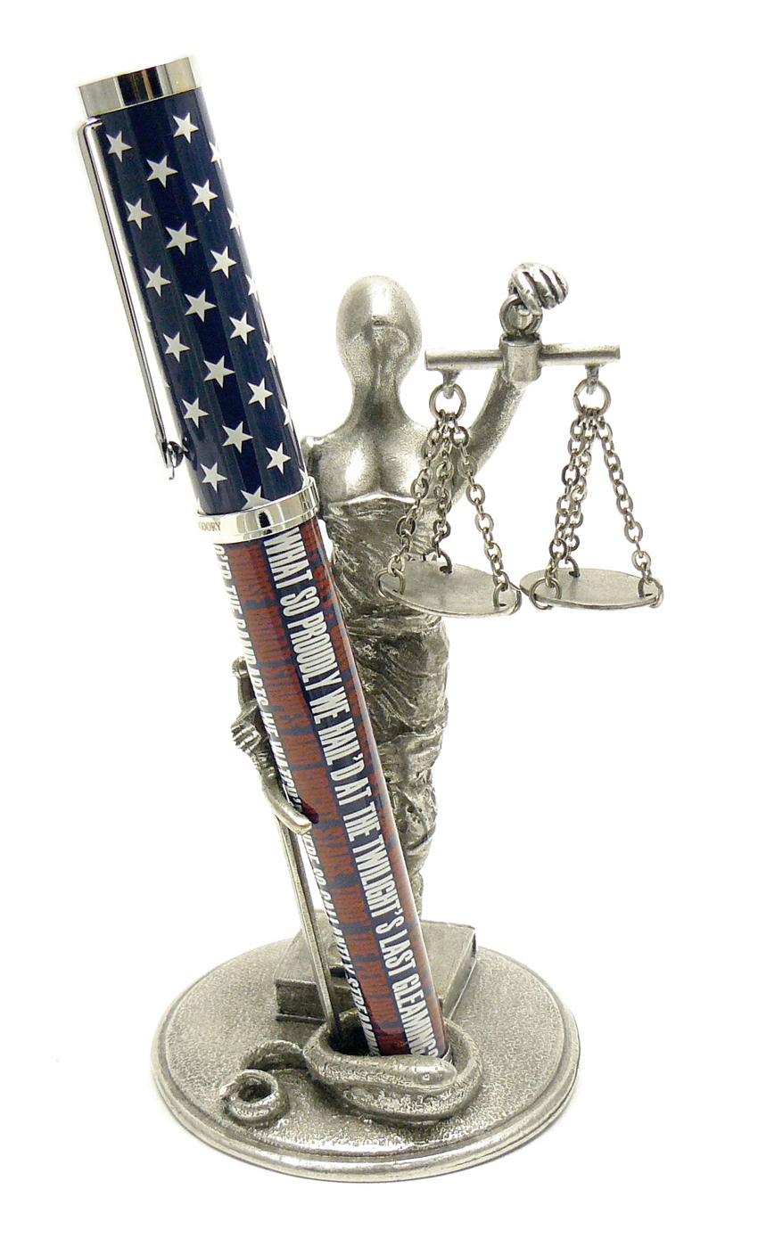 PH70 Scales of Justice - Pewter Made in USA