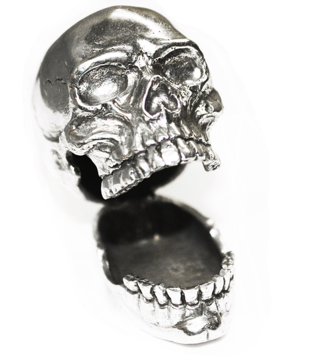 PH113 LOL Skull Pen or Card Holder - Pewter Made in USA