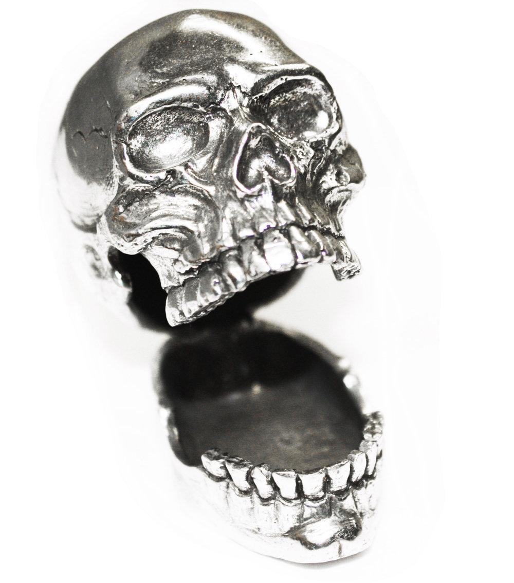 PH113 LOL Skull Pen or Card Holder - Pewter Made in USA