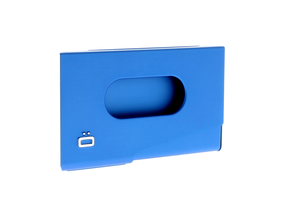 One Touch Business Card Holder - Blue