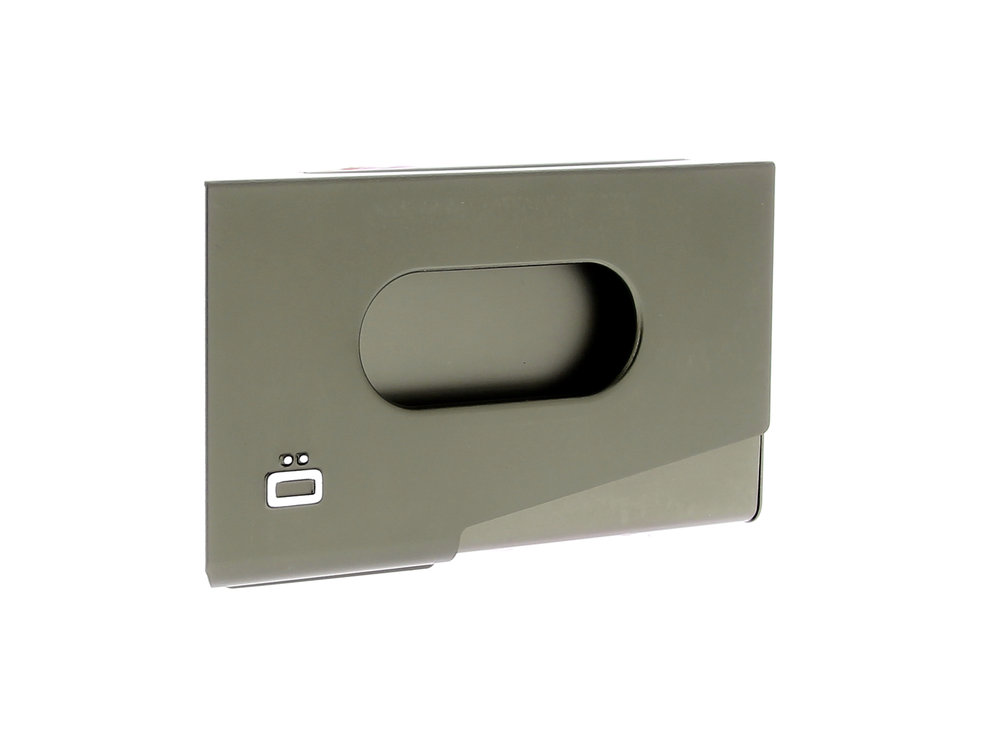 One Touch Business Card Holder - Dark Grey