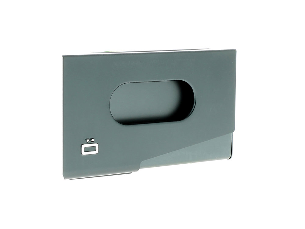 One Touch Business Card Holder - Platinum