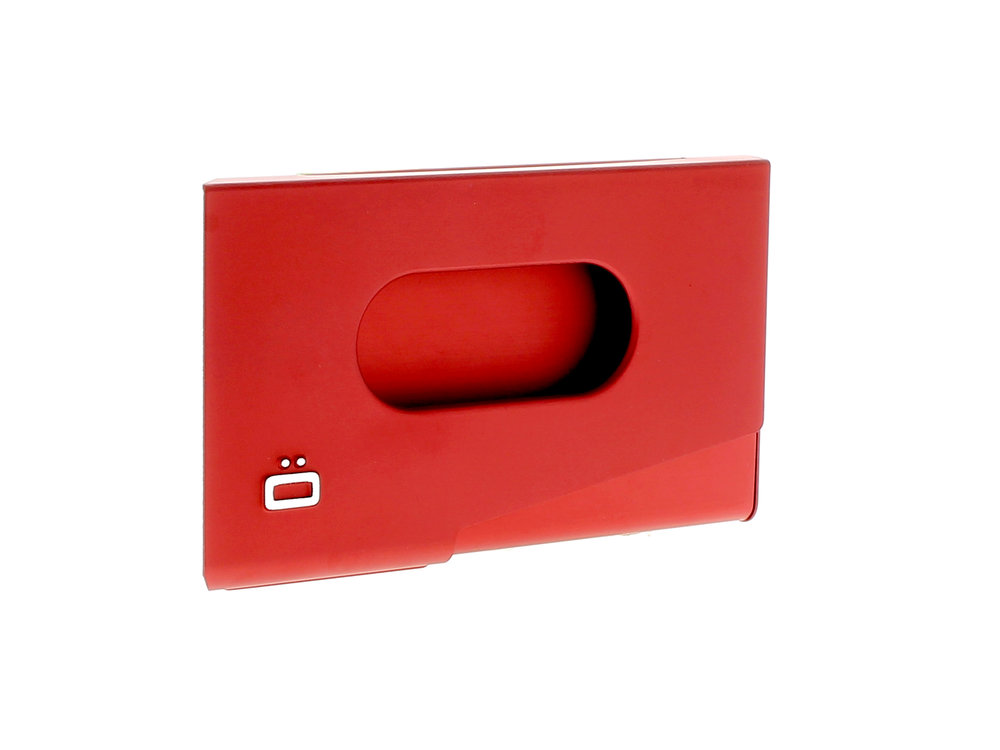 One Touch Business Card Holder - Red