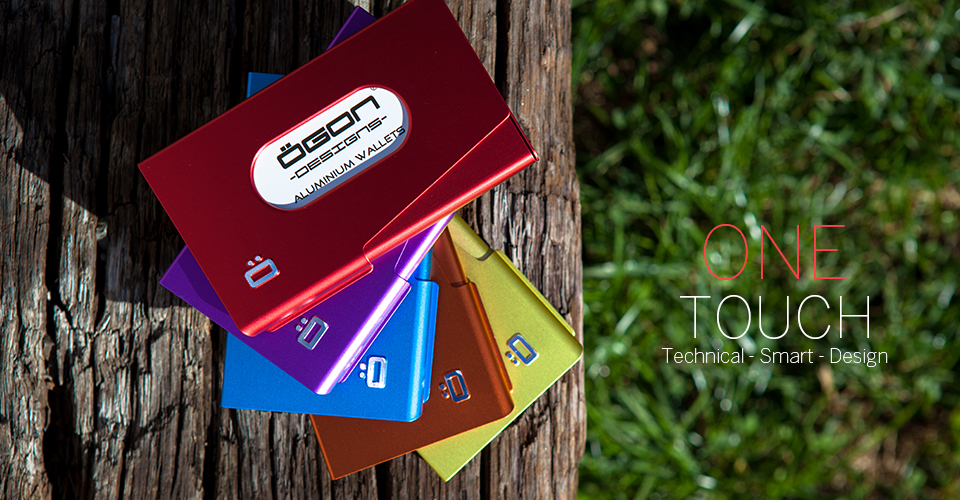 One Touch Business Card Holder - Lifestyle