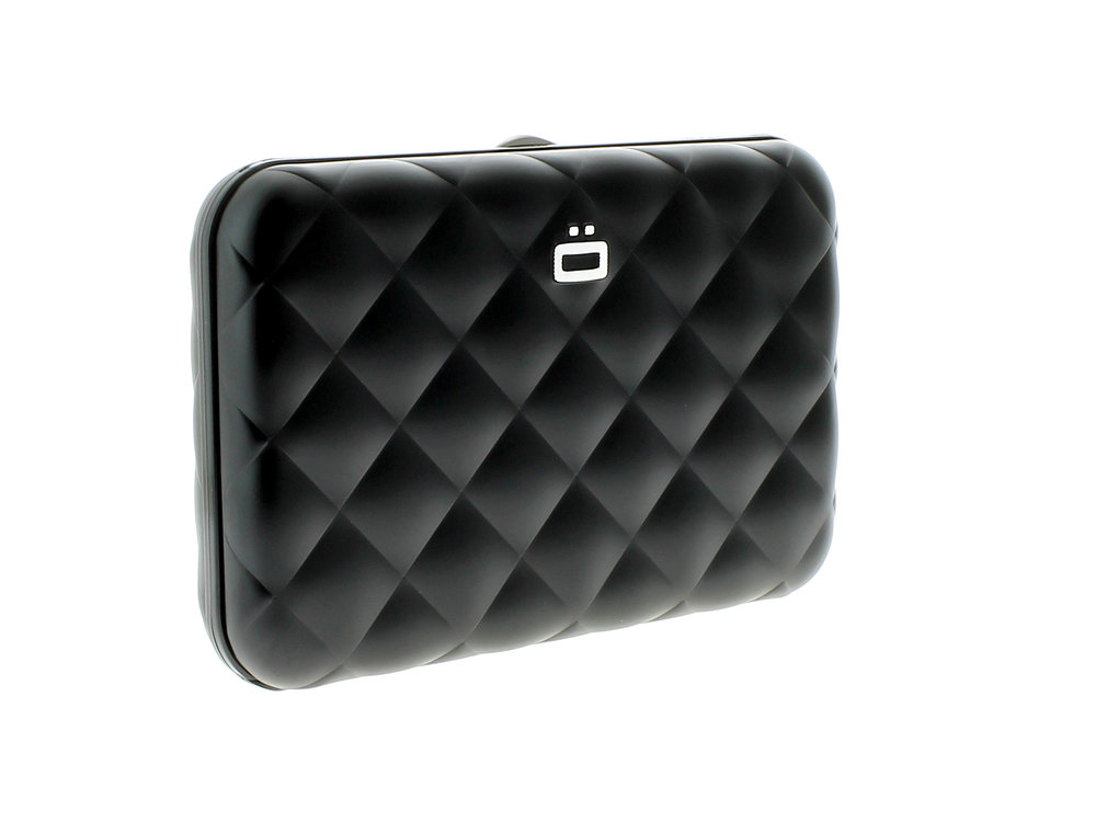 Quilted Button - Black