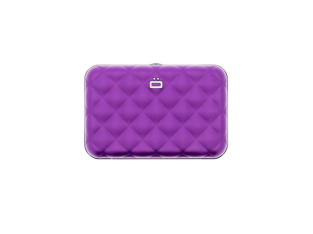 Quilted Button - Purple