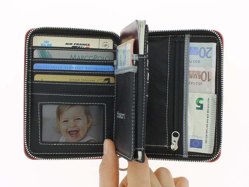 Quilter Passport Wallet - Open