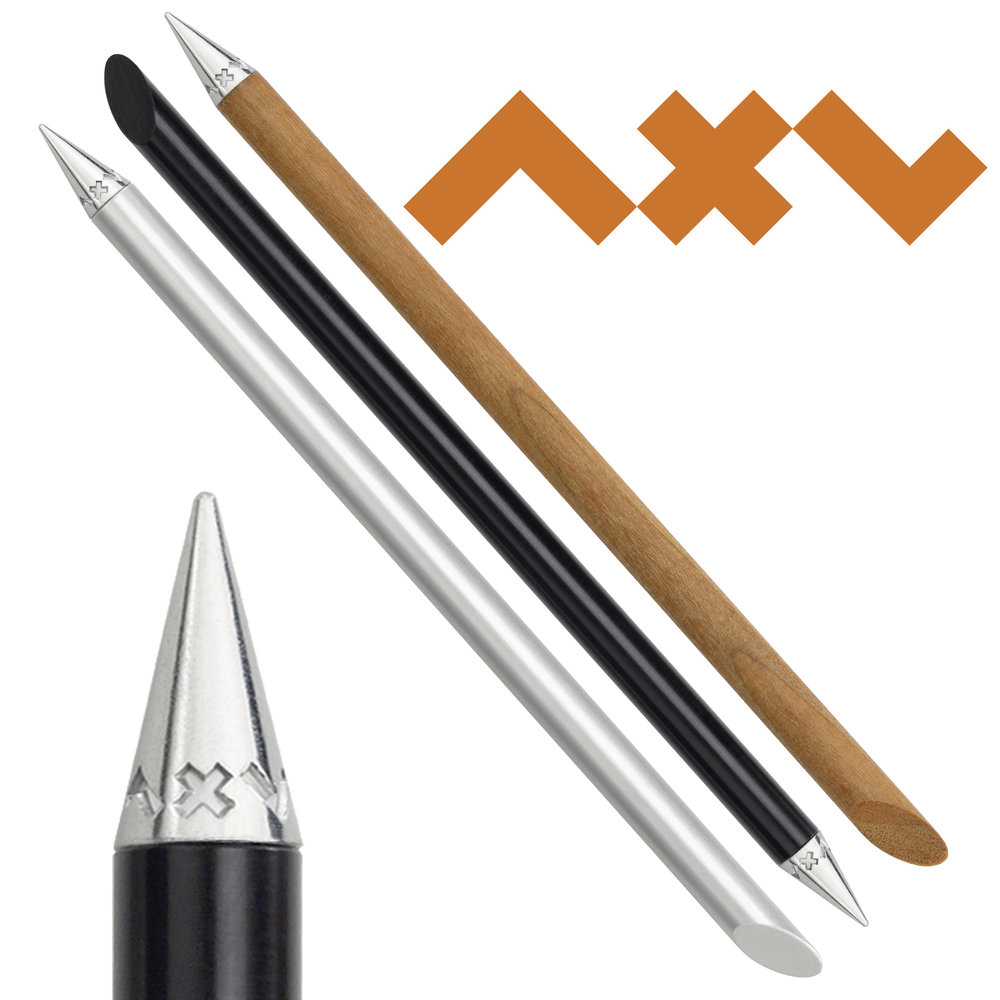 Original Inkless Pen   The Beta Inkless pen ( by Axel ---German precision engineering) is a Bauhaus design to the max---form follows function! Made of Aluminum or Cherry Wood Handles. Writing with a metal tip that is permanent, does not smudge or erase, and last virtually a lifetime of notes.