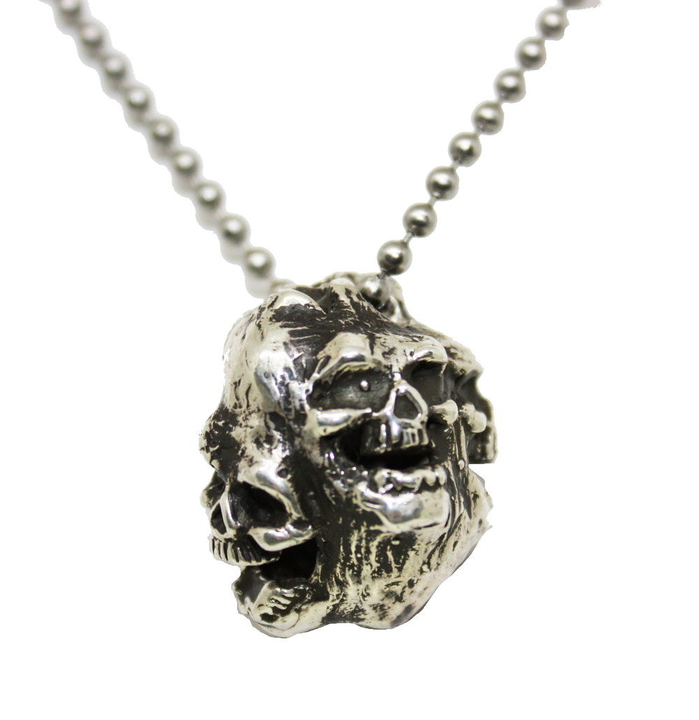 Laughing Skulls - Sterling Silver