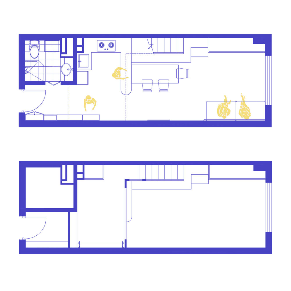 Ground floor plan  Mezzanine floor plan