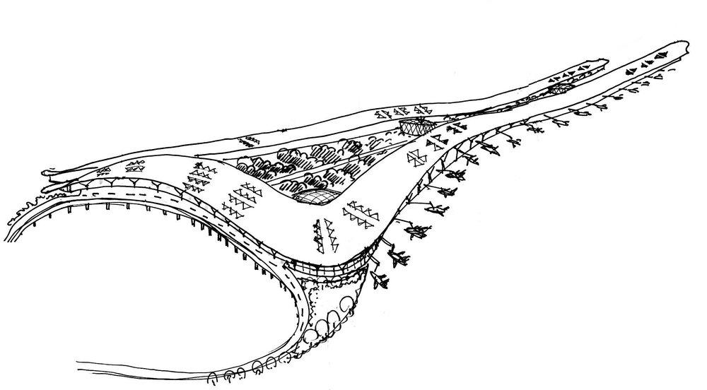 Shanghai Hongqiao Airport Masterplan Terminal 2 Concept 2005