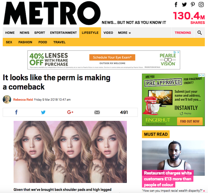 Metro News is a respected daily newspaper with distribution to millions of readers across the British Isles
