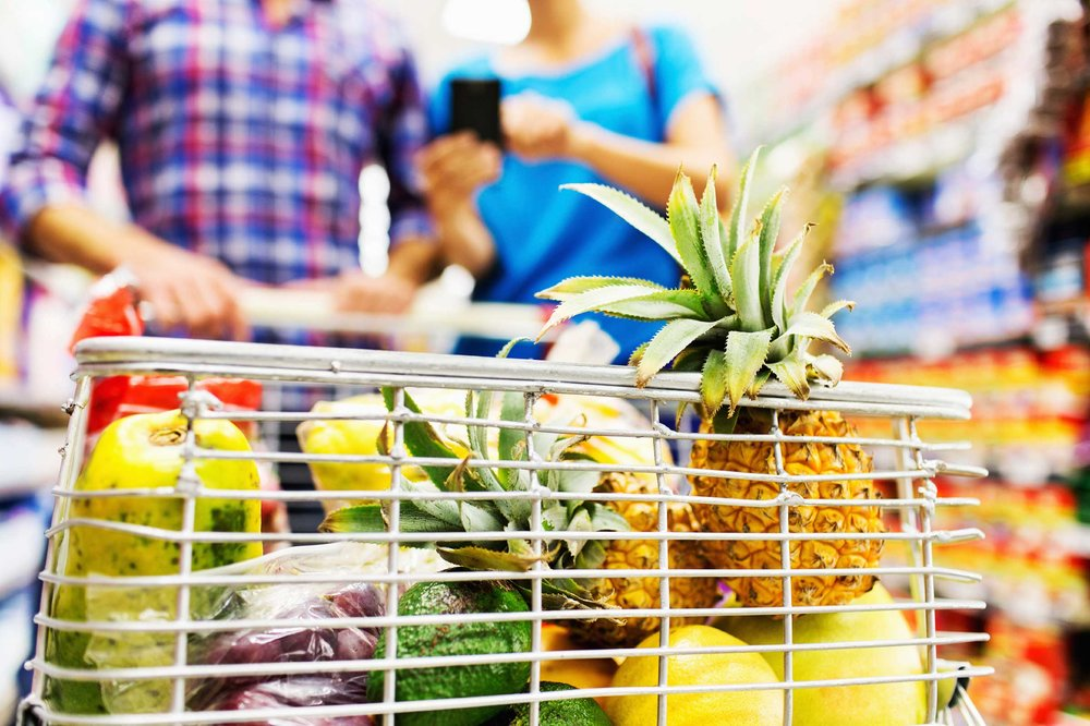 Our grocery store rituals are embedded in our psyches. We're all always grabbing the same stuff—it's one of the hardest habits to break. If the same stuff were always, say, broccoli, carrots, strawberries, fish, whole-grain bread, a bag of beans, and almonds, that habit wouldn't be a problem. But you know and I know it's not. Do your regular shopping and choose the things you usually do. Count how many packages are in your cart versus the number of produce or meat/poultry/seafood bags (frozen food bags only count if you have healthy frozen fruits and vegetables or lean sources of protein like fish in them). Write it down. Twenty-five packaged goods, three bags of fruits and vegetables, one bag from the poultry department, whatever. The next time you go to the market, shift the balance. If you have 25 packaged goods, try to get it to less than 20 items. The next time, get it to less than 15 packaged items. Before you know it, you will have totally transformed your kitchen without even trying. Here are 50 supermarket tricks you probably fall for.